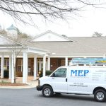 Retirement Home Remodel Contractors visit senior living facilities in MEP company van