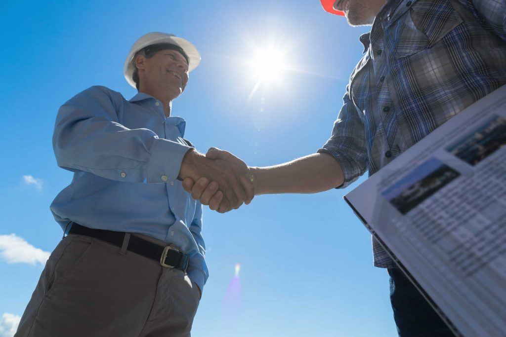 Georgia Bank Construction and Remodeling Agreement Handshake