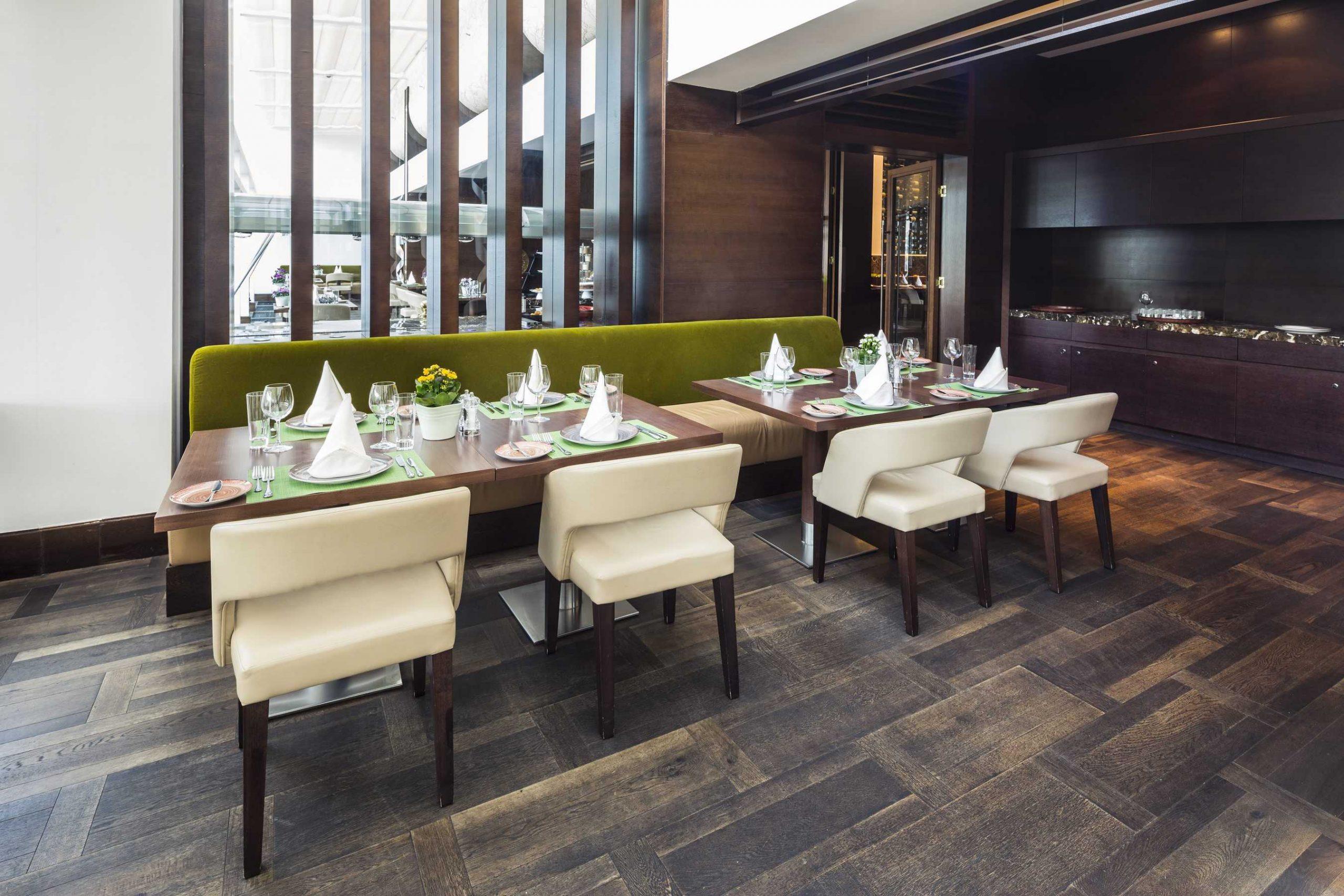 restaurant floor coverings in commercial remodeling contractors project