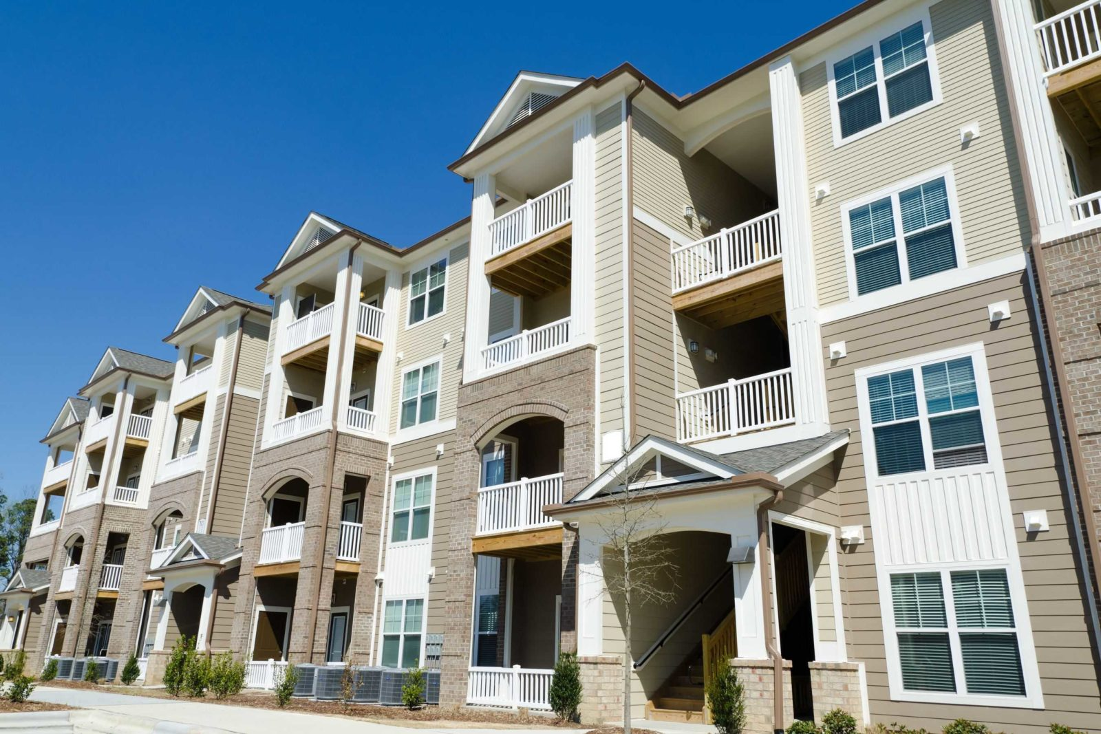New apartment building construction process by MEP Painting & Wallcoverings in north carolina