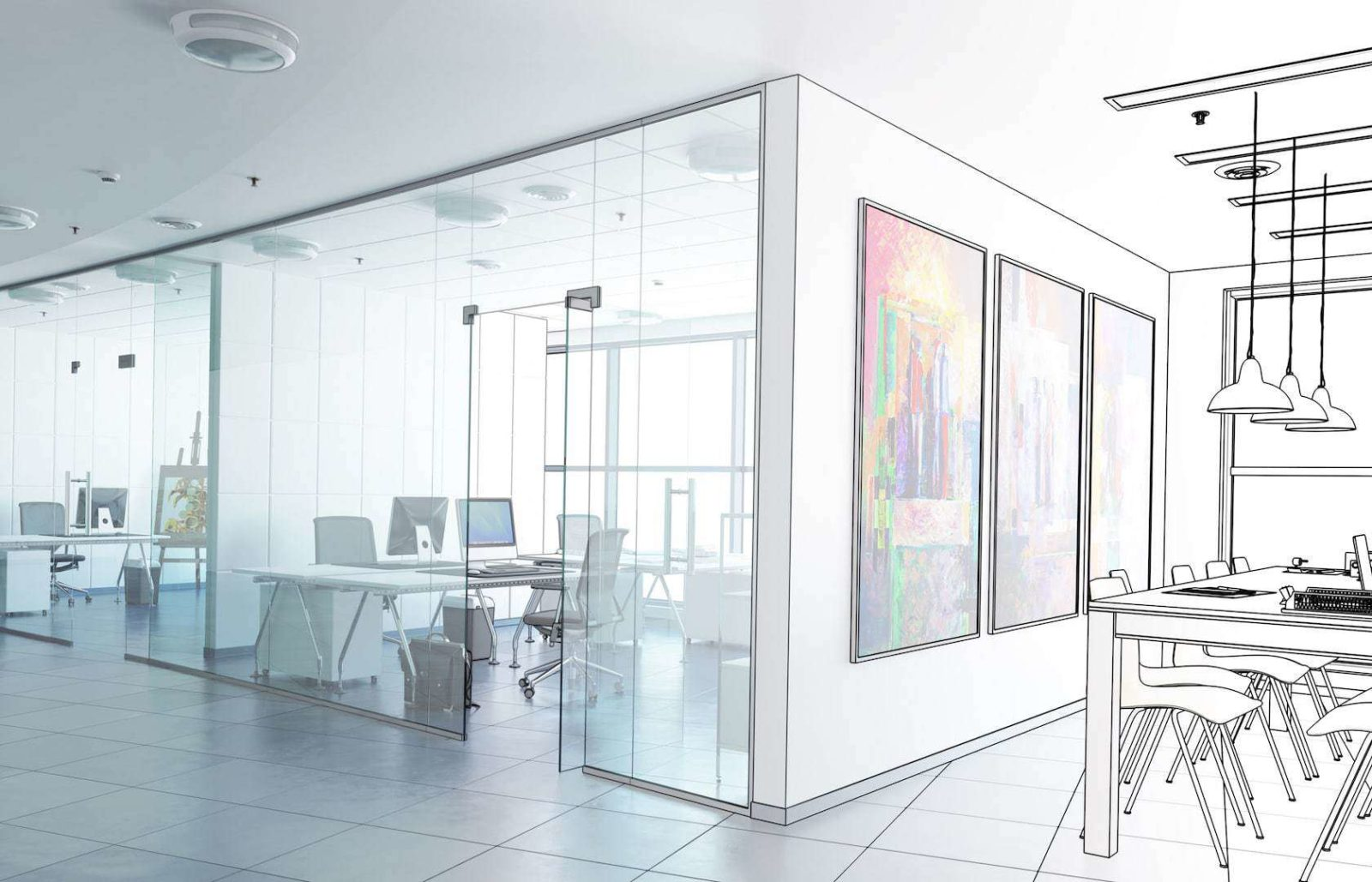 MEP office renovation tips sketch of renovating office space