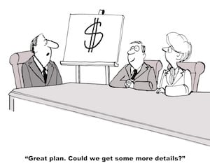 building an assisted living facility needs financial business plan details cartoon caricature