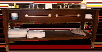 tocador de baño instalado en la renovación del hotel comercial en el hilton