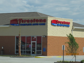 commercial building construction at firestone store