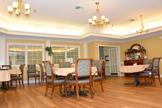 dining area retirement homes remodeling of hardwoods chandeliers