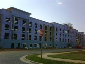 hotel building partially completed new hotel construction