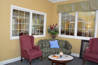 retirement homes renovation of common area with seating