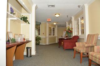retirement homes renovation of hallway sitting area