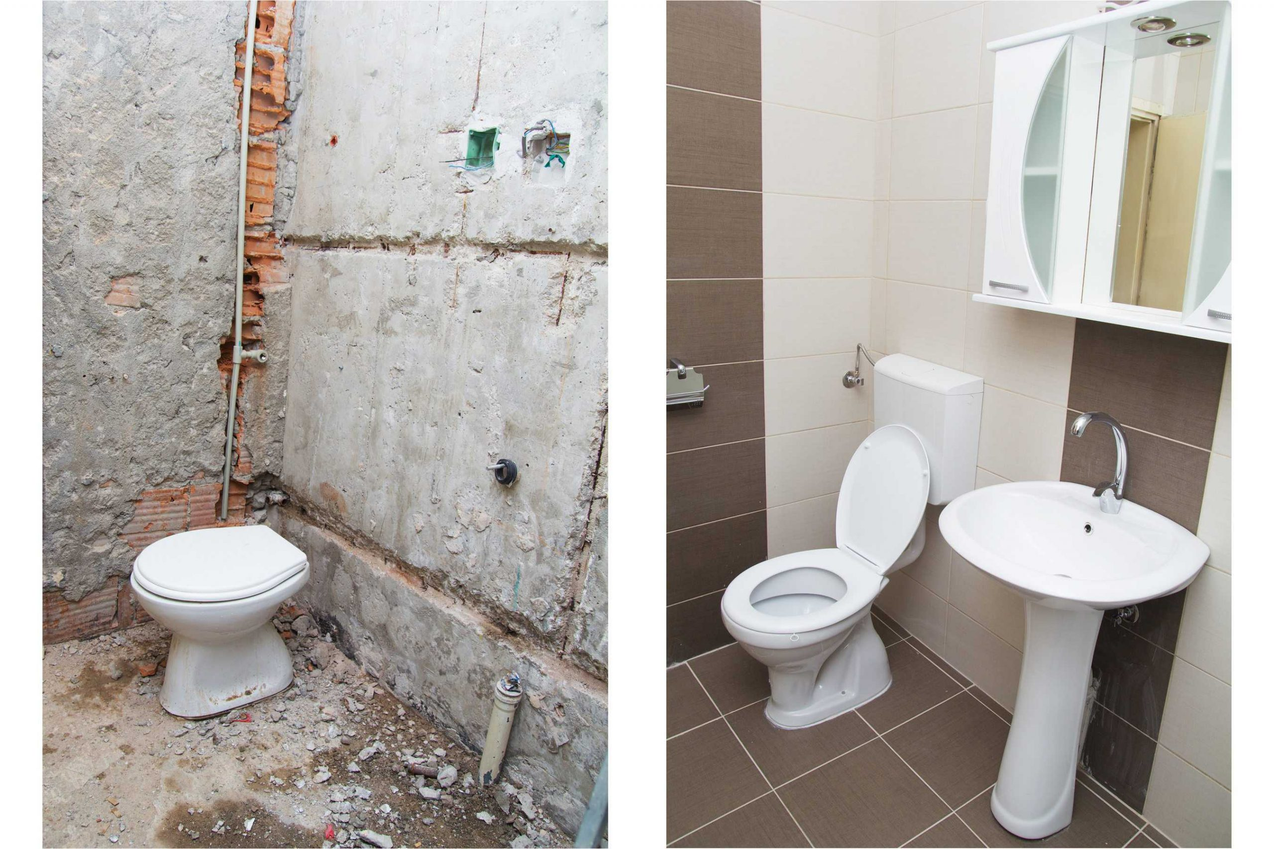 Georgia Commercial Renovations Before and After Bathroom